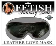 FF LEATHER LOVE MASK - BLACK